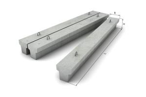 вес бетонной балки 8800 н