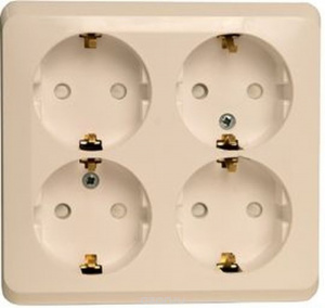 Розетка Schneider Electric  quot Lexel Этюд quot , для наружной проводки,  четырехместная, с 6756dd52840