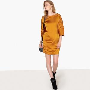 c5c30745c49 Платье La Redoute Короткое блестящее с оригинальными пуговицами на рукавах