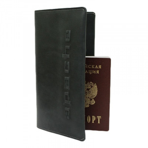 47eedac81a66 Портмоне мужские Person-TM Дорожный бумажник Person ВОЯЖ-2-А Апачи черный