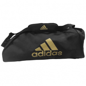5ff092c2a115 Спортивная сумка Adidas Sports Bag Shoulder Strap Combat adiACC055  черно-золотая (размер: M