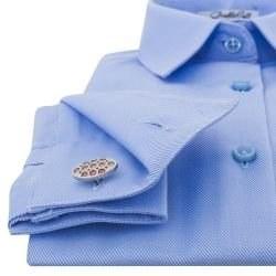 1b98e162176 Женская рубашка под запонки голубая Non-Iron - 7123 DoubleCuff 7123