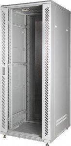 Телекоммуникационный шкаф 19 дюймов напольный 22U, 600x600x1196 мм, стеклянная дверь серый GYDERS GDR-226060G