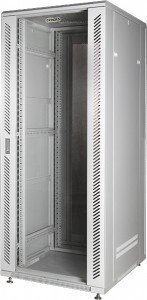 Шкаф телекоммуникационный напольный 19 22U, 600x800x1196 мм, стеклянная дверь, серый, GYDERS GDR-226080G