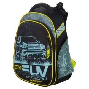 ec68aaebad81 Школьный рюкзак Hummingbird для мальчиков T87 c ортопедической спинкой серый