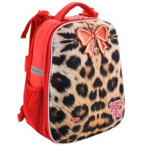 5d5c8e431e00 Рюкзак школьный Mike&Mar (Майк Мар) Леопард, бежевый/крас. Кант