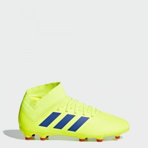 28d5cf48 Футбольные бутсы Nemeziz 18.3 FG adidas Performance solar yellow / football  blue / active red