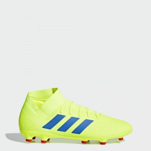 d310b54e Футбольные бутсы Nemeziz 18.3 FG adidas Performance solar yellow / football  blue / active red