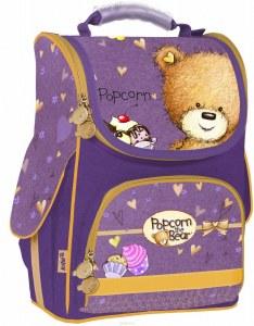 c705d99f38f8 Рюкзак школьный каркасный для девочек Kite Popcorn the Bear, цвет:  фиолетовый