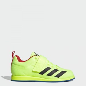 26162eab Штангетки Powerlift 4 adidas Performance hi-res yellow / core black / blue