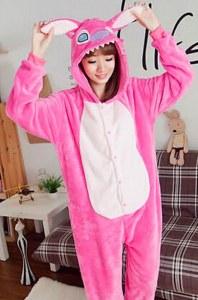 5d52146e6b45 Детская пижама кигуруми Лиловый Стич (размер: 135 см)