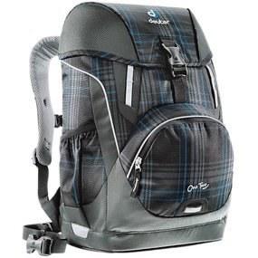 d504282b1726 Школьный рюкзак Deuter 3830015-7309/SET2 Серо-синяя клетка с наполнением 4  предмета