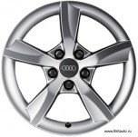Оригинальный колесный диск r16 audi a3 / audi a3 sportback v8, цвет: silver, размерность: 6,0j x 16 pcd: 5 / 112 : 8V00714968Z8