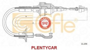 Трос управление сцеплением Cofle 11.256 Opel: 669142 90209335 9211256 Opel Agila (A) (H00). Opel Astra F (56_ 57_).