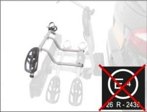 PZ 661 Крепление детского велосипеда дополнительное для велокреплений PERUZZO Siena сталь