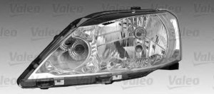 Фара правая электр. с лампами W5W/PY21W/H4 Dacia Logan 1.2-1.6 04-10 RENAULT 8200 744 754