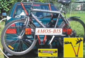 Велокрепление Amos для 3-х велосипедов на фаркоп