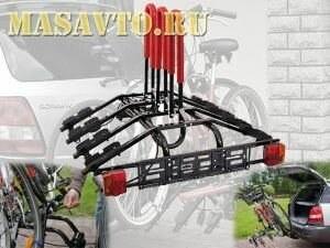 Платформа для перевозки велосипеда на шар фаркопа AMOS (4 вел.)