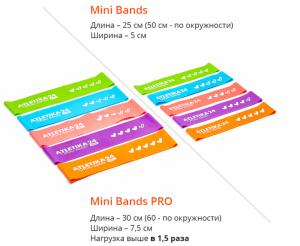a8b342c2beaa2 Набор фитнес резинок Mini Bands PRO 30*7,5 см (5 штук: