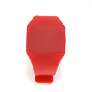 eea8859e Ультратонкие силиконовые LED часы Nexer G1206, красные