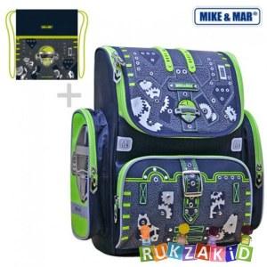 ac4105578991 Ранец школьный Mike Mar 1074-MM-143 Робот Сине-зеленый