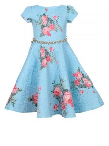 cbca710f379 Angelokids Нарядное платье с ремешком-цепочкой (голубое)
