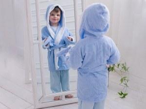 6cb55d1622117 Халат Марвелин детский махровый голубой, р.134-140