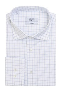 ffb54952dbc18e4 Белая рубашка casual в клетку Meucci SL 93502 R 10171/141581