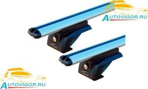 Багажник Lux 842617 серебристый на рейлинги на крышу Nissan X-Trail III T32 (4dr.) SUV 2020г.-по н.в. аэродинамические алюминиевые дуги