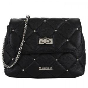 3a42b76d5a8b Стеганая сумочка из черной кожи Marina Creazioni