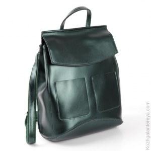 ed71b7b68052 Женский кожаный рюкзак 8504-5 Пеарлайт Грин