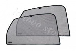 Laitovo Автомобильные шторки Chiko задние на LADA 21214 1G Внедорожник 3D (2001 - н.в.) Нива - с пластиковой заглушкой у зеркала заднего вида