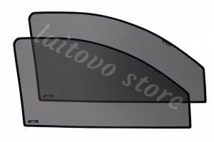 Автомобильные шторки Laitovo передние на LADA 21214 1G Внедорожник 3D (2001 - н.в.) Нива - с пластиковой заглушкой у зеркала заднего вида