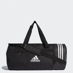 07c057e37081 Спортивная сумка Convertible 3-Stripes adidas Performance Black / White /  White