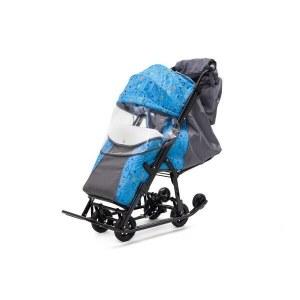 ef38187f Санки-коляска Pikate Compact «Зоопарк», серый PcZ18-Gr
