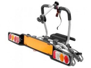 Peruzzo Автобагажник на фаркоп PARMA сталь, откидной, для 2-х в-дов весом до 17кг, рамой max D:60мм, шириной колеса до 80мм, серый, упак.-карт.короб.