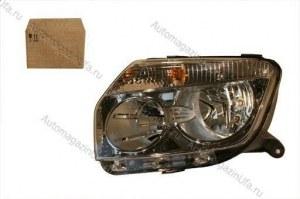 Блок фара Renault Duster левая светлый ободок (63749)