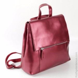 aaffad798ad3 Женский кожаный рюкзак 1723 Красный-Электрик