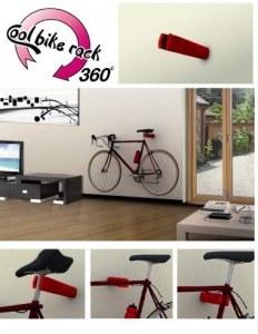 Крепление велосипеда на стену cool bike rack (за любую часть рамы, 360 градусов) красное pz 405-r