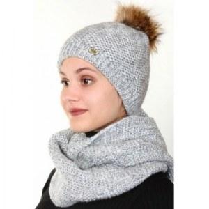 a6ae544a2a39a Комплект шапка,шарф, цвет: светло-серый