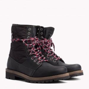 ebd64c639 Зимние ботинки из комбинированных материалов - Черный - Tommy Hilfiger -  EU40 - Men