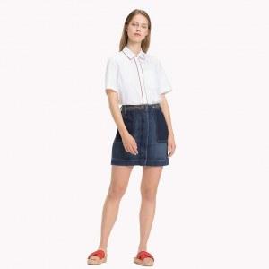 6e67a4844b4 Джинсовая юбка с вышивкой - Деним - Tommy Hilfiger - EU34 - Women