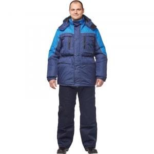 a1c534c0c53 Куртка рабочая зимняя мужская з23-КУ с СОП синяя васильковая (размер 48-