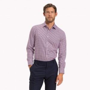 633575b1458 Хлопчатобумажная рубашка в мелкую клетку - Красный - Tommy Hilfiger - 46R -  Men