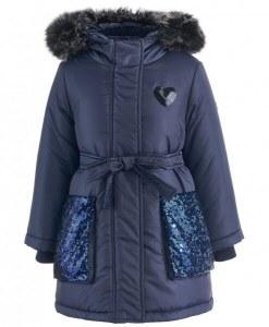 c06546353f924 Пальто зимнее для девочки Button Blue (128)