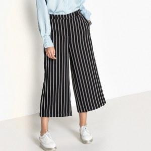 10bf617c1f0 Юбка-брюки La Redoute Прямая с рисунком длина миди