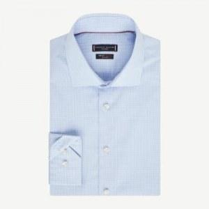 f37041669d86708 Рубашка в мелкую клетку с воротником TH Flex - Синий - Tommy Hilfiger - 38R  -