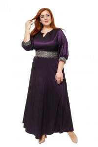 556db2d18e3 Фиолетовое вечернее платье Фиолетовый 86 большого размера 56-68 18343.11