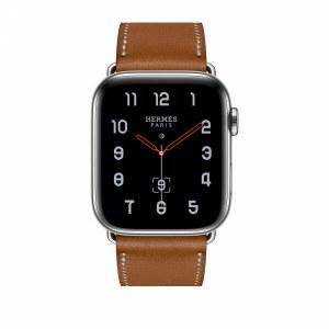 857d7510 Часы Apple Watch Hermès Series 4 40mm Simple Tour en cuir Barénia Fauve