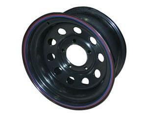 Диск штампованный Nissan Navara D40 6x8 R16 ET-10, черный